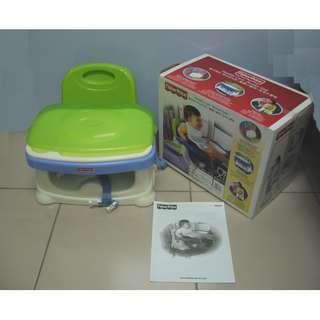 【親親小舖~免運】費雪 專櫃Fisher-Price可攜式 寶寶小餐椅 配件齊全 餐盤為全新未使用(免運)