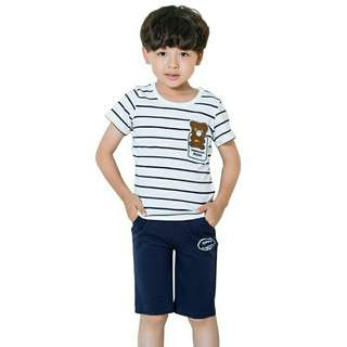 *FREE DELIVERY to WM only / Ready stock* Kids boy 2pc wear set each as shown in design/color.  Free delivery is applied for this item.
