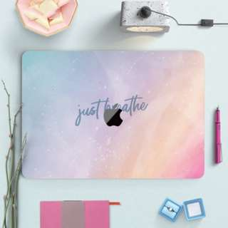 🚚 Just Breathe Ombre Pastel Gradient Macbook Vinyl Decal