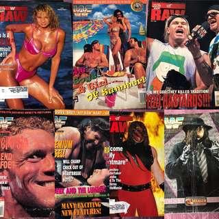 WWE Vintage Magazine x 16 @ $60!!!!