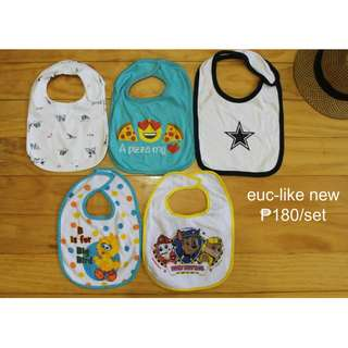 Preloved Used Clothes Bibs for Infant Baby Toddler Boy SET