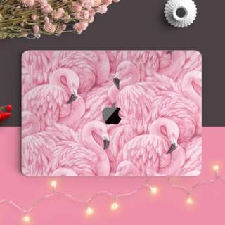 🚚 The Great Ruffled Feather Flamingo Macbook Vinyl Decal