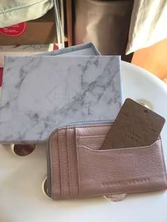 Samuel Ashley leather card holder/ small wallet