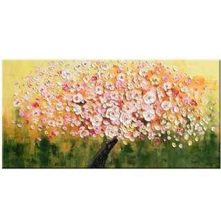 Blooming Sakura Tree Oil Painting 70cm x 140cm