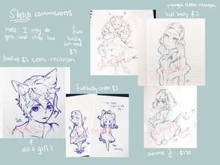 Commissions (sketch,chibi,manga,anime)