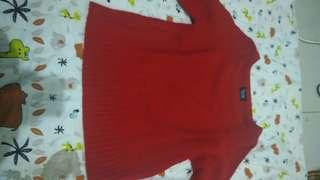 Sweater Sweap Preloved Merah