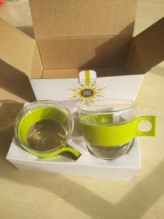 Nescafe dolce gusto cappuccino pop glass set
