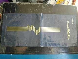 1978-80年 名牌 華倫天奴 MARIO VALENTINO 中古長型紙袋
