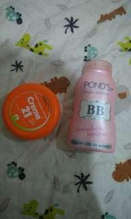 Magic Pounds Bb Powder dan 21 Creme moisturaizer