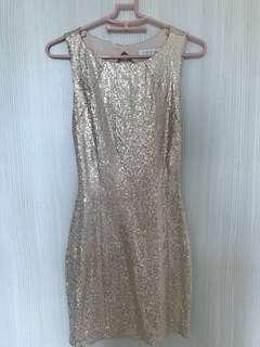 Sequined Blush Dress