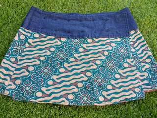 Double sided batik mini skirt (home made)