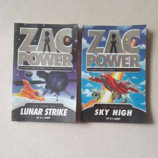Zac Power books (Good condition)