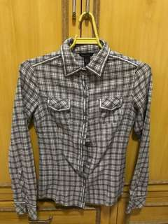 Mango Basics Flannel Shirt