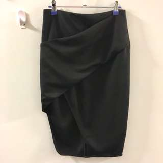 TEMT Black Wrap Skirt