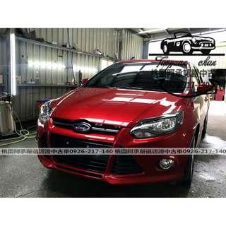 【FB搜尋桃園阿承】福特 超人氣FOCUS頂級 2015年 2.0 紅色 二手車 中古車