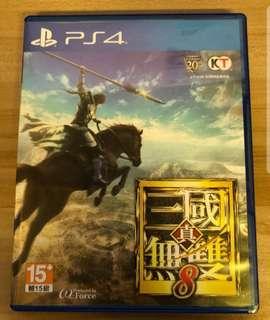 三國無雙 PS4 (有code) 95%新 繁體中文版