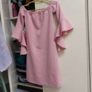 pastel pink dress (used once)