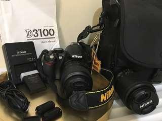 NIKON DSLR D3100 + Free Sports Cam