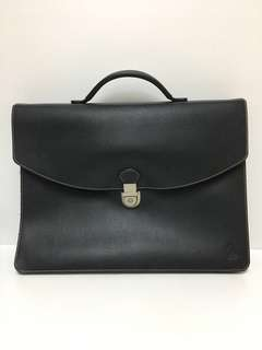 SQ Solitaire Leather Briefcase / Document Bag