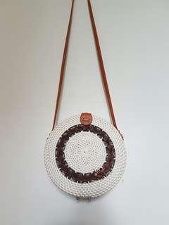 White Bali bag