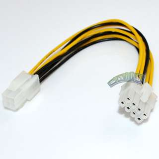 ATX 4 Pin Female to 8 Pin male EPS Power Supply Cable Adapter Convertor