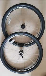 "MTB 26"" disc brake rim and tyre"