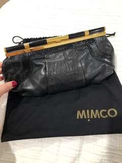 Mimco leather clutch / shoulder/crossbody bag