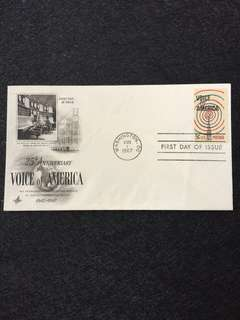 US 1967 Voice of America FDC stamp
