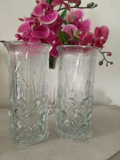 Glass Vase(both$50) make fr Italy