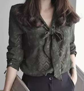 Korean Style long-sleeved chiffon shirt