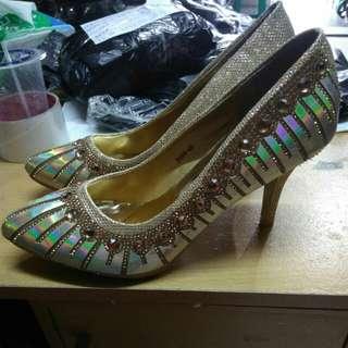 Sepatu heels bling bling