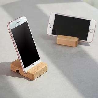 木質手機座