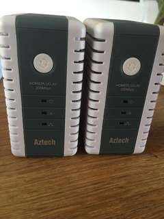 Aztech 200Mbps home plugs