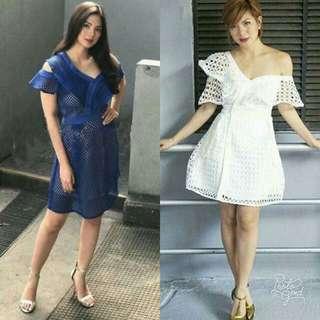 🍃Fashion Net Design Off Shoulder Dress