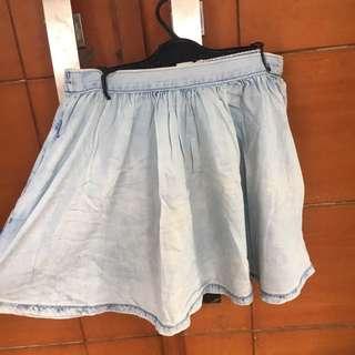 Acid washed skirt / rok denim