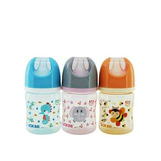 *FREE DELIVERY to WM only / Ready stock*  Baby bottle 4oz wide neck bpa free each B-117 as shown in design/color.  Free delivery is applied for this item.