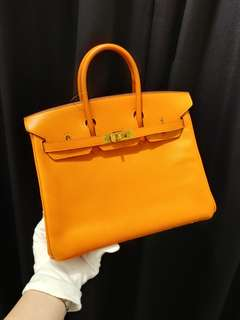 Hermes birkin 25 orange epsom