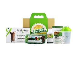 Amway healthy breakfast kit 健康营养早餐 bodykey protein double x fibre