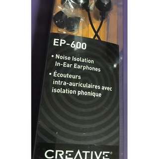 Creative EP-600 Noise Isolation In-ear Earphones