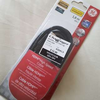 GE HDMI high speed cable 1.8m