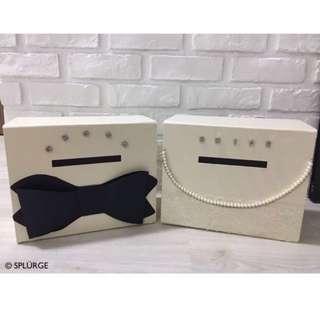 (RENTAL) Bride & Groom wedding angbao box for Solemnization / weddings