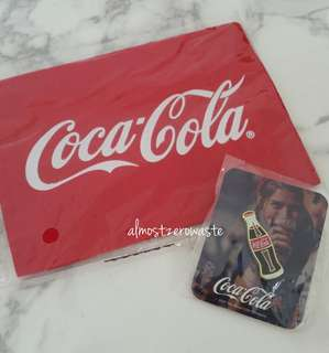 Coca Cola Pin and Tissue Pouch