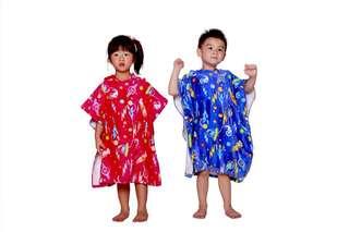 Kid Poncho 兒童游泳毛巾斗篷 (粉紅色 Pink)