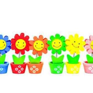 Wooden Flowerpot Card Holder