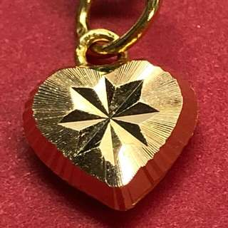 Lovely Heart Locket - Gold 916 ❤️