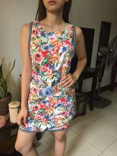 F21 Floral slim  dress