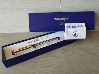 Waterman stainless steel 水筆