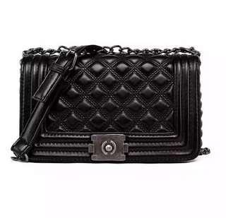 'Le Boy' inspired quilted black bag