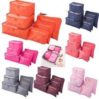 6in1 Travel pouch set