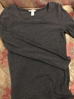 Forever21 Gray Cotton Long Sleeves